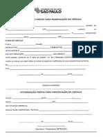 Formulário DETRAN Modificação de Veículo