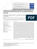 Biodiversity and population dynamics of microorganisms in a full-scale membrane bioreactor for municipal wastewater treatment