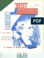American Atheist Magazine July 1976
