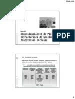 Cap 5, Dimensiones de Piezas Estructurales de Sección Transversal Circular