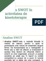 Analiza SWOT a Kinetoterapiei