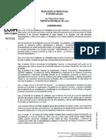 Resolución RP-RDE-026-2014