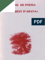 I Premi de Poesia La Forest d'Arana - València, 1987