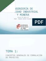 Conceptos Generales de Formulación de Proyectos