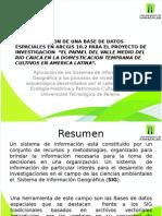 """Presentacion Base de datos espaciales para el proyecto """"El papel del valle medio del río Cauca (Colombia) en la domesticación temprana de los cultivos en américa latina""""."""