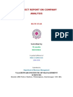 A Project Report on Company Analysis