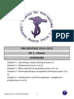 Chemistry chimie UE9