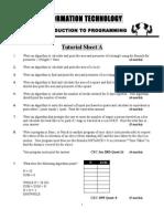 Programming Workshop Tutorial Sheet a, B, C