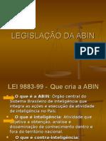 Esquema Legislação da  Abin Concurso 2010