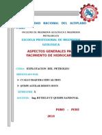 Aspectos Generales Para Un Yacimiento de Hidrocarburos [1]