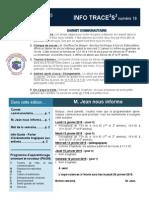 Info-TRACEESS Numéro18, le 13 Janvier 2015