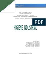 Trabajo Higiene Industrial