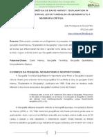 A Geografia Teoretica de D HARVEY -Explanation in Geography- Ou -Teorias, Leyes y Modelos en Geografia- e a Geografia Critica