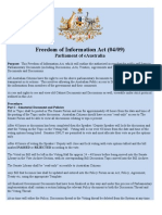 Freedom of Information Act (04/09)
