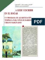Artículo de revista Lectura y vida .Programa de alfabetización temprana en barrios marginales de Argentina.Rosemberg