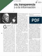 Democracia, transparencia y derecho a la información