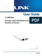 TL-MR3040 User Guide