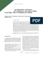 Catalase Activity and Thiobarbituric Acid Reactive