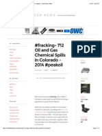#Fracking- 712 Oil and Gas Chemical Spills in Colorado - 2014 #Peakoil - North Denver News