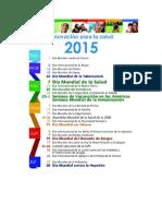 Calendario OMS 2015