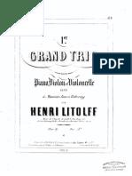 Litolff - Piano Trio Op 47