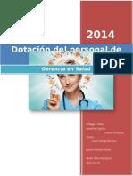 Dotación Del Personal de Enfermería en Hospitalización