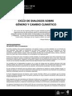 Progama Foro Público Género y Cambio Climático 18Set14