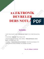 Elektronik II - Erzurum Atatürk Üniversitesi Elektronik Devreler Ders Notları