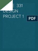 MecE 331 Design Project 1