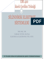 Yüksek Gerilim Tekniği - Erciyes Üniversitesi - Silindirik Elektrot Sistemleri