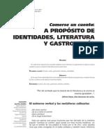 Identidades, Lit y Gastronomia