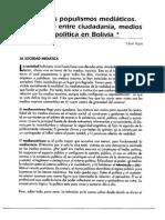 Los Nuevos Populismos y Los Medios. Cesar Rojas