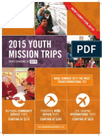 NEW 2015 Group Mission Trips Catalog