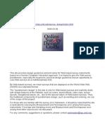 Online Survey Design Guide Guidelines