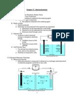 Zumdahl ElectroChemistry Notes