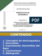 Electroquímica - Electrólisis Del H2O