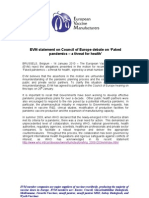 EVM Statement on Council of Europe Debate on Pandemics Fin