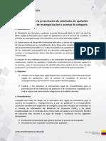 Instructivo Para La Presentacion de Solicitudes de Apelacion Para El Proceso de Recategorizacion o Ascenso