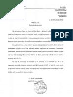 Circulara Ref. La HG 1003 Din 2014 Privind Suspendarea Cursurilor in Perioada 14-17 Nov 2014 Cu Anexe