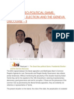 THE GREAT GEO-POLITICAL GAME PRESIDENTIAL ELECTION AND THE GENEVA DISCOURSE – II.odt