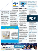 Pharmacy Daily for Wed 14 Jan 2015 - SA pharm flu vax ticked, Oversupply, low wages top concerns, NHS cuts 25 cancer therapies, Health, Beauty and New Products, and much more
