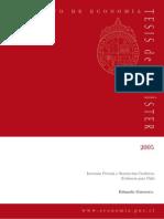 Inversión Privada y Restricción Crediticia