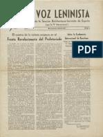 La Voz Leninista Nº 1, 1937