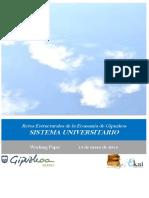 Retos Estructurales de la Economia de Gipuzkoa. SISTEMA UNIVERSITARIO