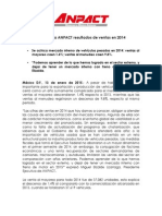 Presenta ANPACT resultados de ventas en 2014