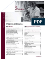 Continuing Education Catalogue Technology and Skilled Trades
