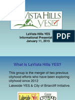 LaVista Hills Yes Cityhood Presentation delivered 1_11_2015