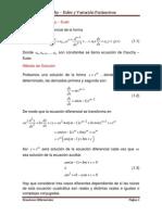 Cauchy Euler - Variación de Parametros