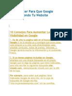 Como Hacer Para Que Google Visite a Fondo Tu Website