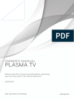 """LG 60"""" TV Model 60PN5700 Owners Manual"""